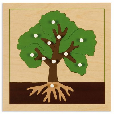 Teia Education - Botanisches Puzzle Baum - Nienhuis Montessori